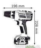 Bosch GSR 14,4-2-LI Professional aku vrtačka 3x aku + L-Boxx, aku vrtačka