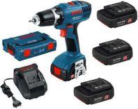 Bosch GSR 14,4-2-LI Professional + L-Boxx - 3x 14.4V/1.3Ah, aku vrtačka