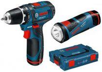Zobrazit detail - Bosch GSR 10,8-2-LI Professional + Lampa GLI 10,8 V-LI v L-Boxxu, aku vrtačka bez příklepu
