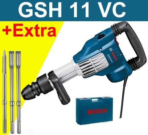 Bosch GSH 11 VC Professional sekací pneumatické kladivo + 3 sekáče