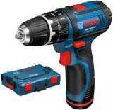 Bosch GSB 10,8-2-LI Professional v L-Boxxu (2x 1.3.Ah)