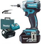 Makita BTD147RFE - 2x 18V/3.0Ah Li-ion, 170Nm, 1.5kg