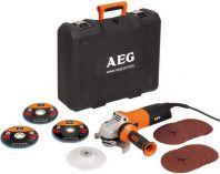 Zobrazit detail - AEG WS 12-125 XE Kit - 125mm, 1200W, 2.3kg, kufr, úhlová bruska + 14 kotoučů