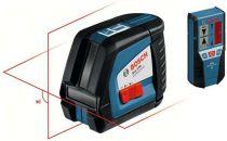 Zobrazit detail - Bosch GLL 2-50 Professional + Laserový přijímač LR 2 + Uni. držák BM 1 + kufr, Profi křížový laser