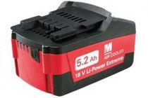 Zásuvný akumulátor Metabo LI-Power Extreme 18V/5.2Ah
