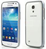Zobrazit detail - Hliníkový ochranný rámeček - Ochranný kryt Samsung S4 mini (Galaxy i9190) šedý bumper