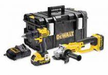 Zobrazit detail - DeWalt DCK284M2 Kombo sada DCD780 + DCSG412 (aku vrtačka bez příklepu 18V + aku úhlová bruska 125mm)