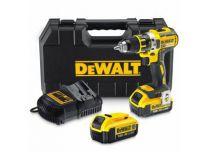 Zobrazit detail - DeWALT DCD795M2, 2x 18V/4.0Ah, XR, 1.88kg, bezuhlíková aku vrtačka s příklepem