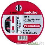 Zobrazit detail - Řezný kotouč Metabo Promotion 115 x 1,0 x 22,23 na železo, kov a nerez