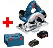 Zobrazit detail - Bosch GKS 18 V-LI Professional - 2x 18V/4.0Ah Li-ion, 165mm, 4.1kg, + L-Boxx, aku kotoučová pila