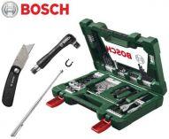 Zobrazit detail - 68 dílná sada příslušenství Bosch (vrtáky, bity, držáky bitů, nůž, magn. teleskop. atd.) 2607017307