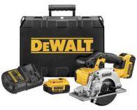 Zobrazit detail - DeWalt DCS373M2, 2x 18V/4.0Ah Li-Ion, 140mm, 3.8kg, aku kotoučová pila na kov, kufr