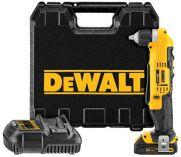 Zobrazit detail - DeWalt DCD740C1, 1x 18V/1.5Ah Li-ion, aku úhlová vrtačka