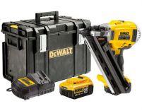 Zobrazit detail - DeWalt DCN690M2K, 2x 18V/4.0Ah, XR Li-Ion, 90mm, Bezuhlíková aku hřebíkovačka v TOUGH SYSTEM kufru