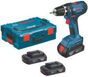 Bosch GSR 18-2-LI Professional - 3x 18V/1.5Ah, L-Boxx, aku vrtačka bez příklepu