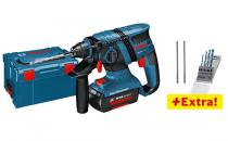 Zobrazit detail - Bosch GBH 36 V-LI Professional - 2x 36V/2.0Ah, L-Boxx, aku pneumatické kladivo + 10x vrták