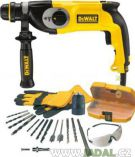 DeWALT D25123KB + sada psluenstv - 800W; 3.4J; 2.9kg