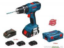 Zobrazit detail - Bosch GSB 18-2-LI Professional (3x 1,3 Ah) + L-Boxx, aku vrtačka s příklepem