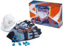 Narex Protect Kit sada ochranných prostředků (vesta, brýle, rukavice, respirátor, ušní zátky,...)