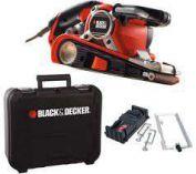 Zobrazit detail - Pásová bruska Black&Decker KA89EK - 750W, 75x533mm, v kufru