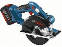 Zobrazit detail - Bosch GKM 18 V-LI Professional - 2x 18V/4.2Ah Li-ion, 136mm, 2.7kg, L-BOXX, aku kotoučová pila