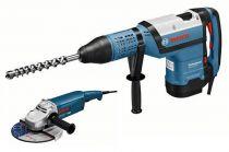 Zobrazit detail - Bosch GBH 12-52 DV Professional + úhlová bruska GWS 22-230 JH ,vrtací a sekací pneumatické ...