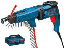 Zobrazit detail - Bosch GSR 6-45 TE + MA 55 Professional - 701W; 0 - 4.500ot/min; 1,4kg, šroubovák na sádrokarton se zásobníkem
