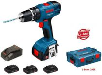 Bosch GSB 14,4-2-LI Professional v L-Boxxu (3x 1,3 Ah)