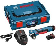 Zobrazit detail - Bosch GWB 10,8 V-Li Professional - 2x 10,8V/1.3Ah Li-Ion; 11Nm; 1.2kg, úhlový aku šroubovák
