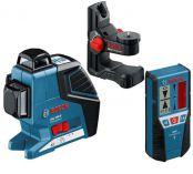 Křížový laser Bosch GLL 3-80 P Professional + Laserový přijímač LR 2 Professional + BM 1 + kufr, Profi křížový laser