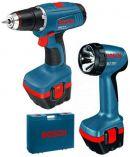 Zobrazit detail - Bosch GSR 12 V Professional + svítilna GLI, aku vrtačka bez příklepu