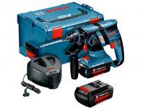 Aku bezuhlíkové vrtací kladivo Bosch GBH 36V-EC Professional Compact, 2x 36V/2.0Ah, 1.8J, 2.9kg, L-Boxx