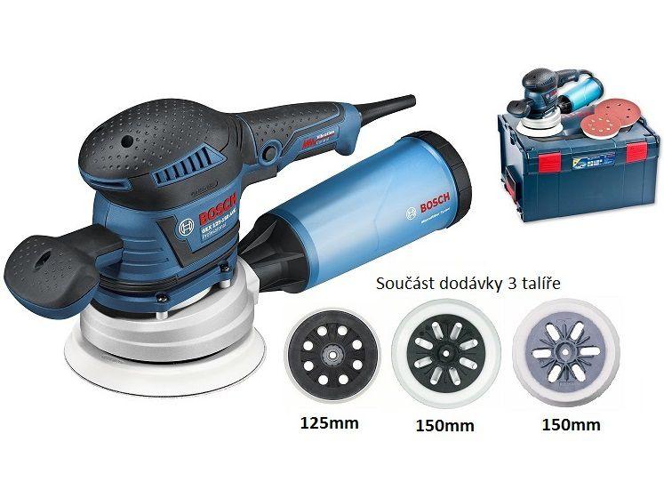 Bosch GEX 125-150 AVE Professional excentrická bruska 400W, 125/150mm, kufr L-Boxx (060137B101) Bosch PROFI
