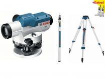 Bosch GOL 26 D Professional nivelační optický přístroj, kufr + stativ + měřicí lať + dárek