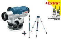 Bosch GOL 32 G Professional nivelační optický přístroj, kufr + stativ + měřící lať + dárek