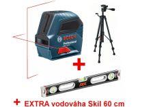 Křížový laser Bosch GLL 2-10 Professional křížový laser + stativ BT 150 + dárek