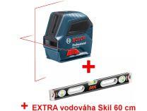 """Křížový laser Bosch GLL 2-10 Professional - 10m, 1/4"""", 5/8"""", 0.49kg + dárek"""