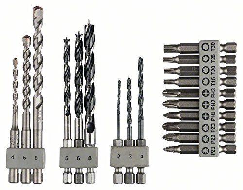 Bosch Uneo SET 19-dílná sada vrtáků a bitů šestihran + SDS-Quick Bosch příslušenství