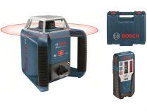 Rotační laser Bosch GRL 400 H Professional + Laserový přijímač LR 1 Professional + Kufr