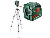 Bosch PCL 10 SET křížový laser se stativem 1.1m, ochranné pouzdro, 2x AA baterie