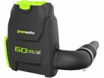 Greenworks GD60BLB - 60V, 225km/h., 3.8kg, bez aku, aku zádový fukar na listí