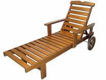 Garland Solhaga - dřevěné lehátko s kolečky