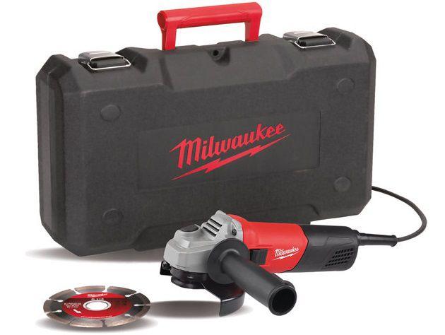 Milwaukee AG 800-115ED-SET Úhlová bruska - 115mm, 800W, diamantový kotouč, v kufru, kód: 4933451281