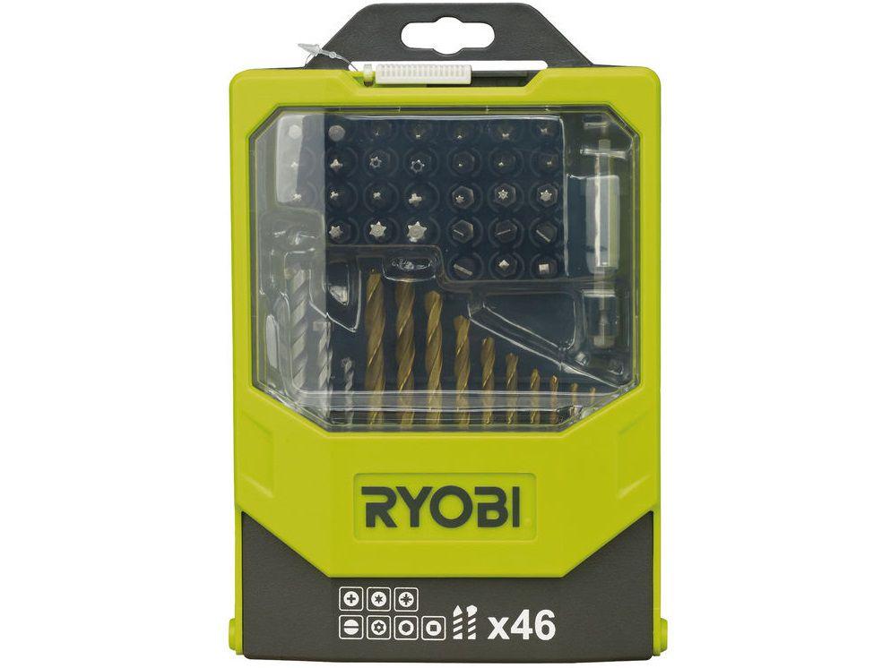 46-dílná sada vrtáků a šroubovacích bitů Ryobi RAK 46 MIX (5132002686)