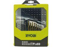69-dílná sada vrtáků a šroubovacích bitů Ryobi RAK 69 MIX