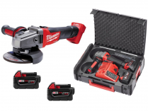 Milwaukee M18 CAG125X-502X - 125mm, 2x 18V/5.0Ah, 2.5kg, Heavy Duty kufr, aku úhlová bruska