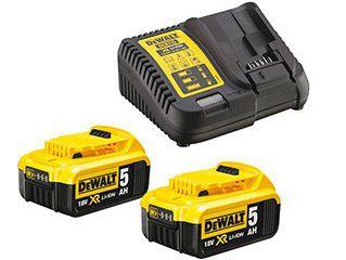 DeWALT DCB115P2-QW Sada nabíječky a akumuátorů - 2ks XR Li-Ion 18V/5.0Ah + nabíječka