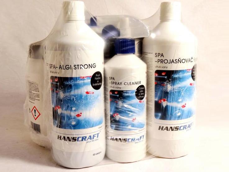 HANSCRAFT SPA Whirlpool set profi 2 chemie do mobilní vířivky