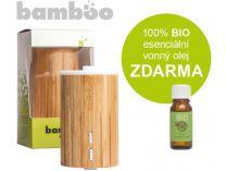 Ultrasonický aroma difuzér Bamboo + 100% BIO esenciální vonný olej ZDARMA