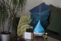 Ultrasonický aroma difuzér Hanscraft Palladinum MODRÝ + 100% BIO esenciální vonný olej ZDARMA (141021)